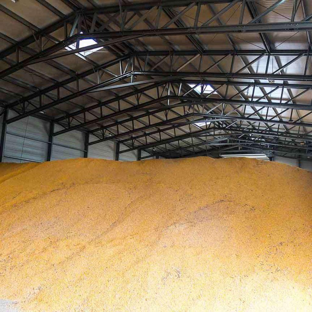 bulk storage metal steel hall grain warehouse