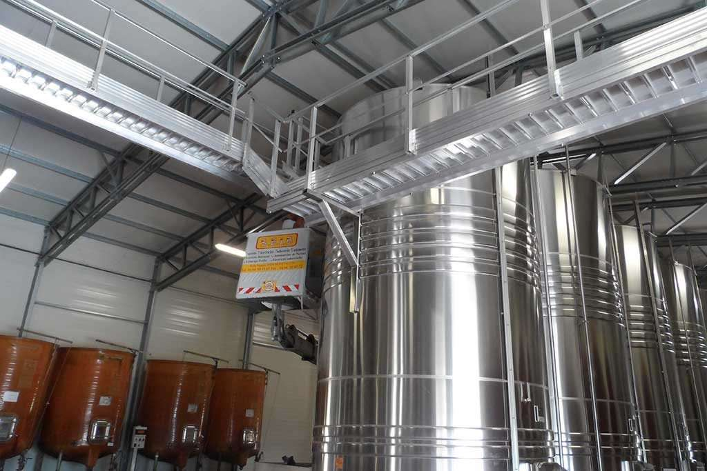 winery storage steel industrial building PESB hall
